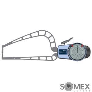 Analogový tloušťkoměr s rameny pro měření do 50 mm - doteky s kuličkou