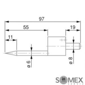 Dotek kuželový 0,5 až 5,5 mm