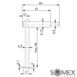 Dotek pro měření hloubky / drážek